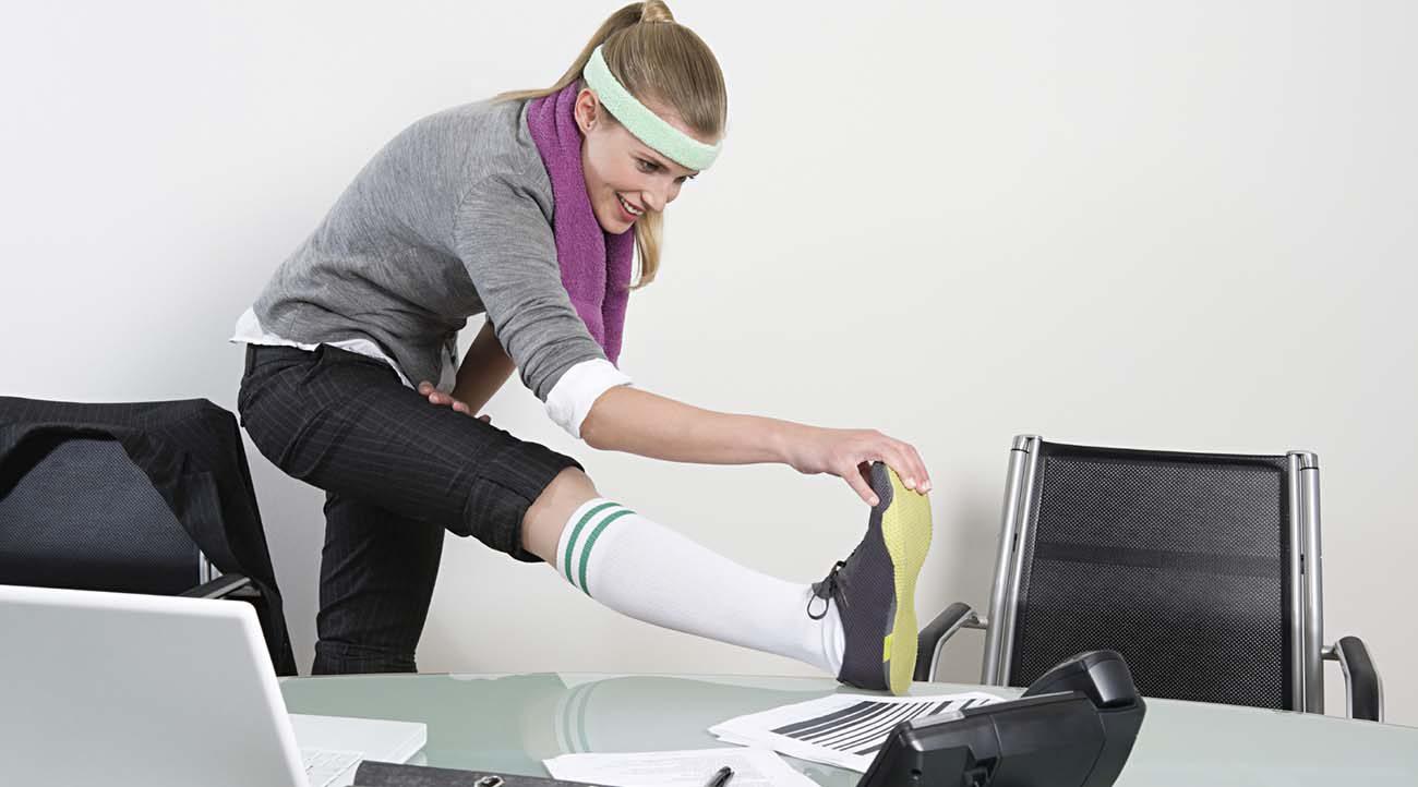Esercizi per allenarsi in ufficio